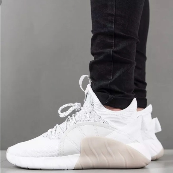 quality design 57ceb dab01 Adidas tubular rise white beige sneakers men's 8.5 NWT